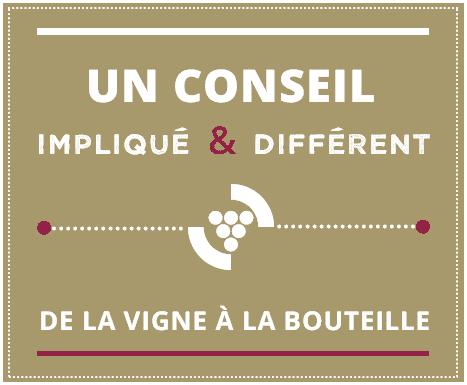 Slide 1 // Un conseil impliqué et différent de la vigne à la bouteille